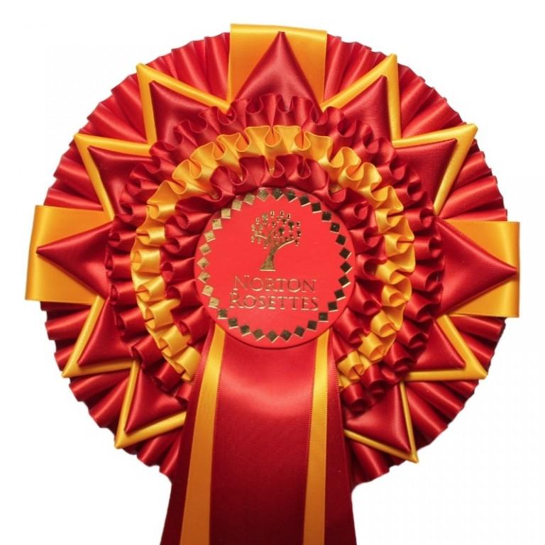 3 Tier Championship Rosette 3